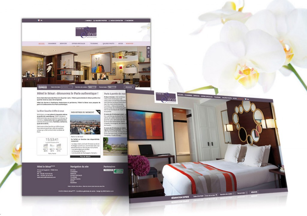 site internet hotels webdesign
