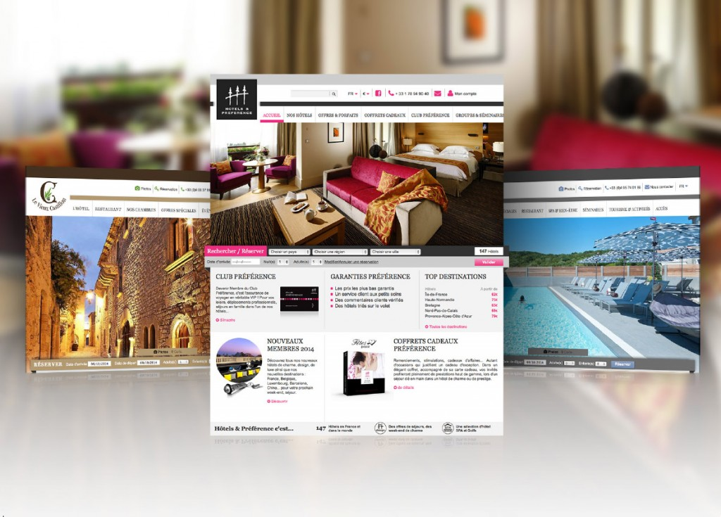 site internet hotels design